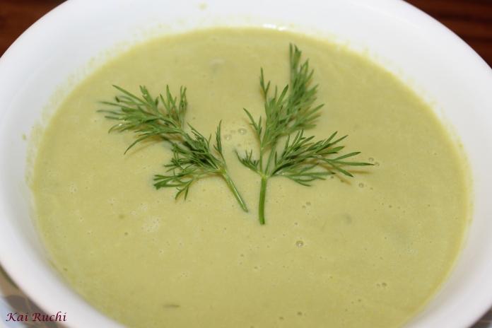 Ridge Gourd soup