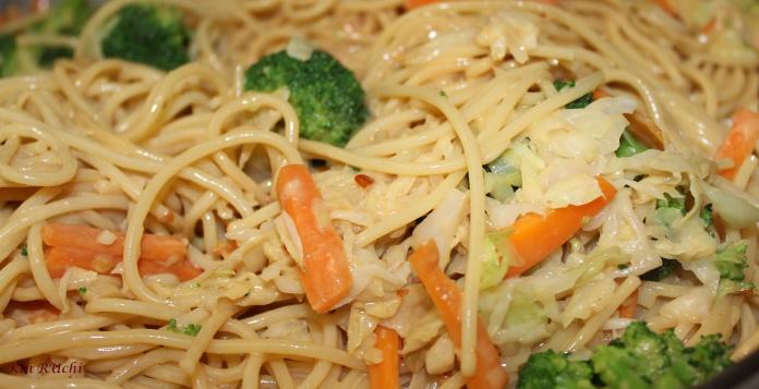 Simple peanut noodles